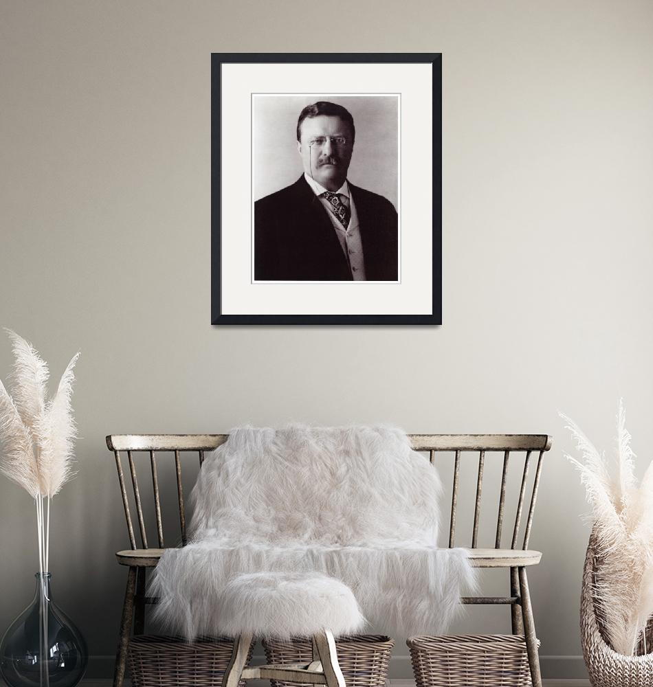 """Blue Bloods Teddy Roosevelt Portrait Print""  (1910) by limitededitionvintage"