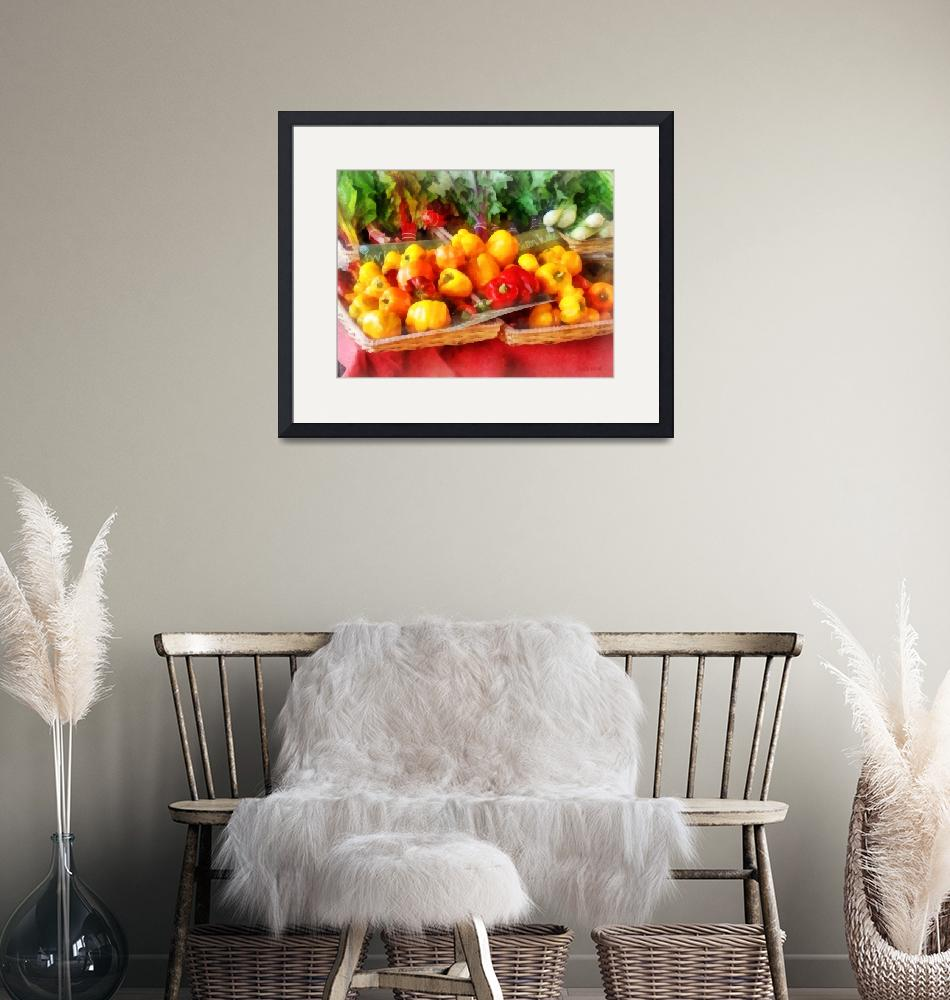 """""""Peppers at Farmers Market""""  (2013) by susansartgallery"""