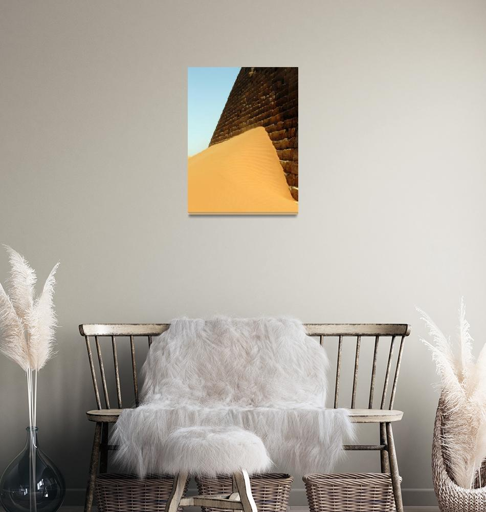 """Sudanese pyramid""  (2009) by jimmy-joe"