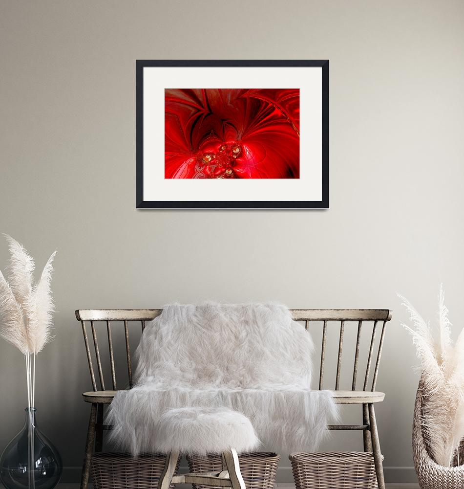 """""""Abstract Art Red Stage 3""""  (2009) by shanmaree"""