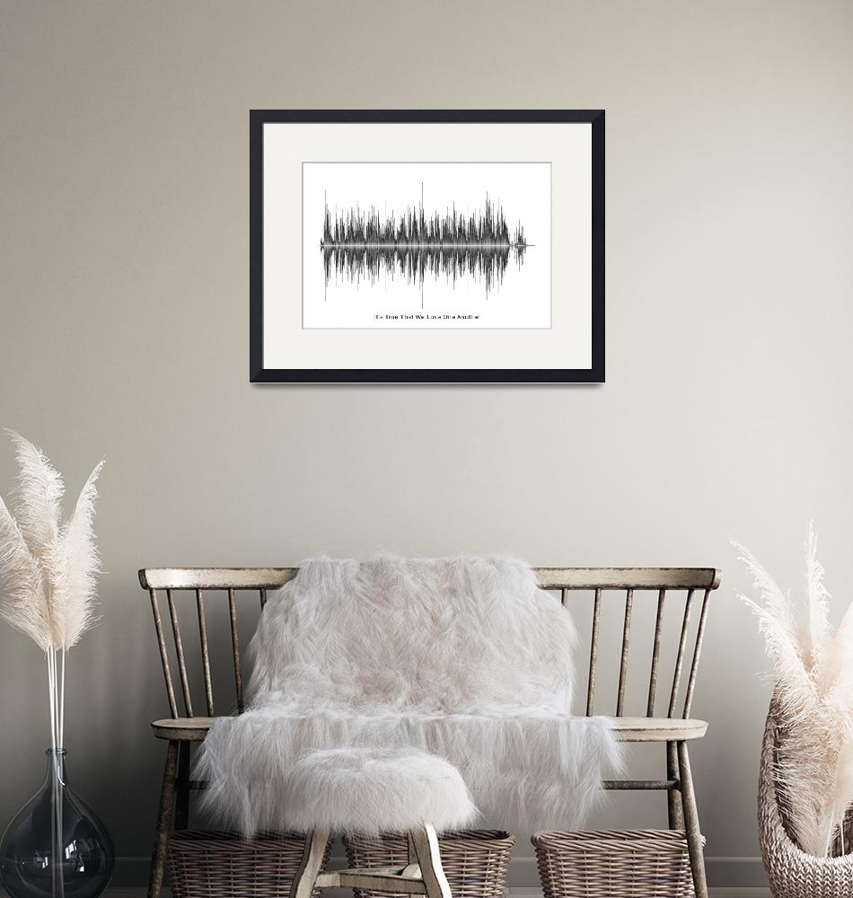 """""""White Stripes - Love one another print""""  by Soundwaveart"""