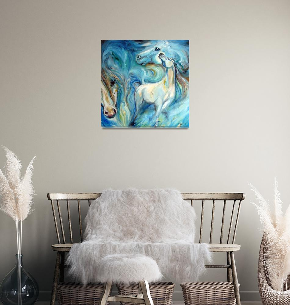 """BLUE MYSTIC SKY EQUINE""  (2010) by MBaldwinFineArt2006"