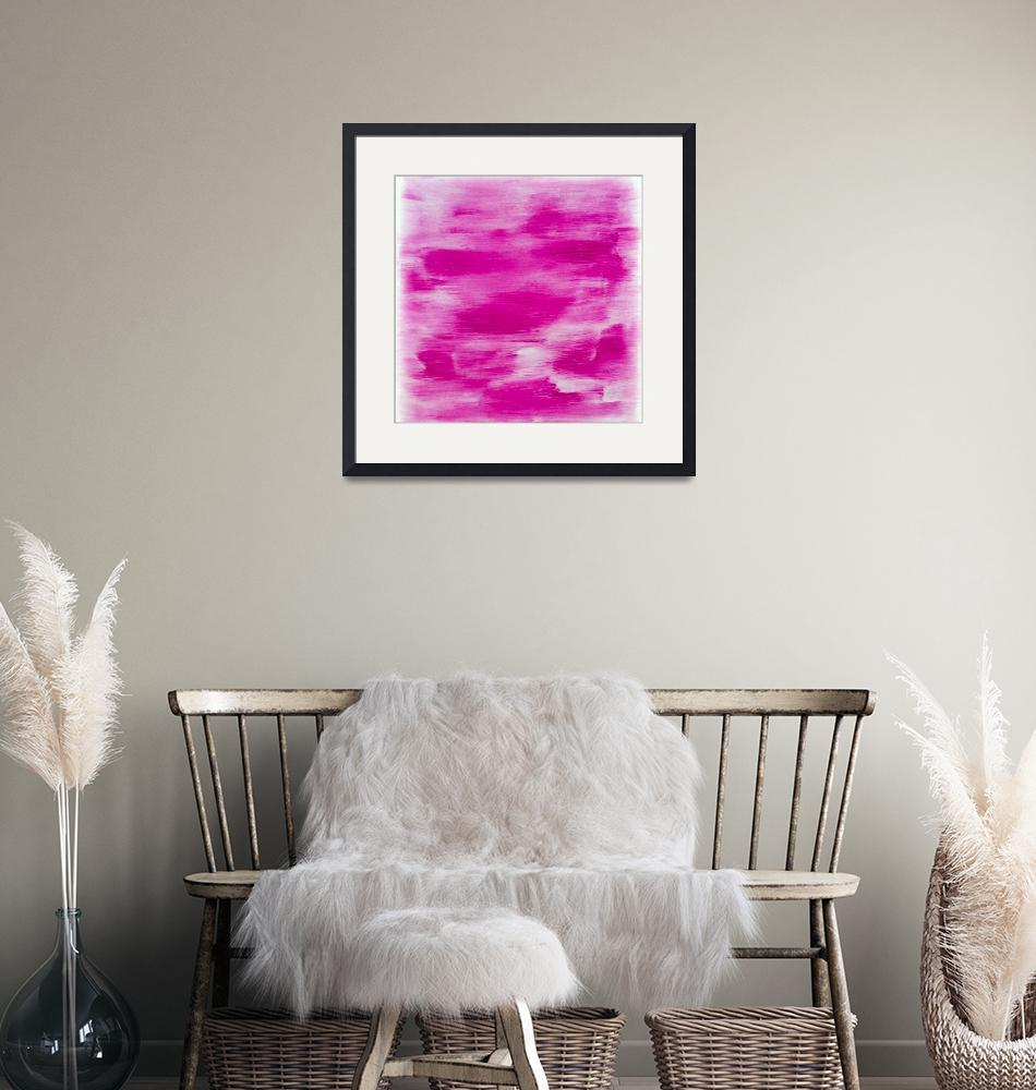"""""""Hot Pink Abstract""""  (2015) by jadeevalley"""