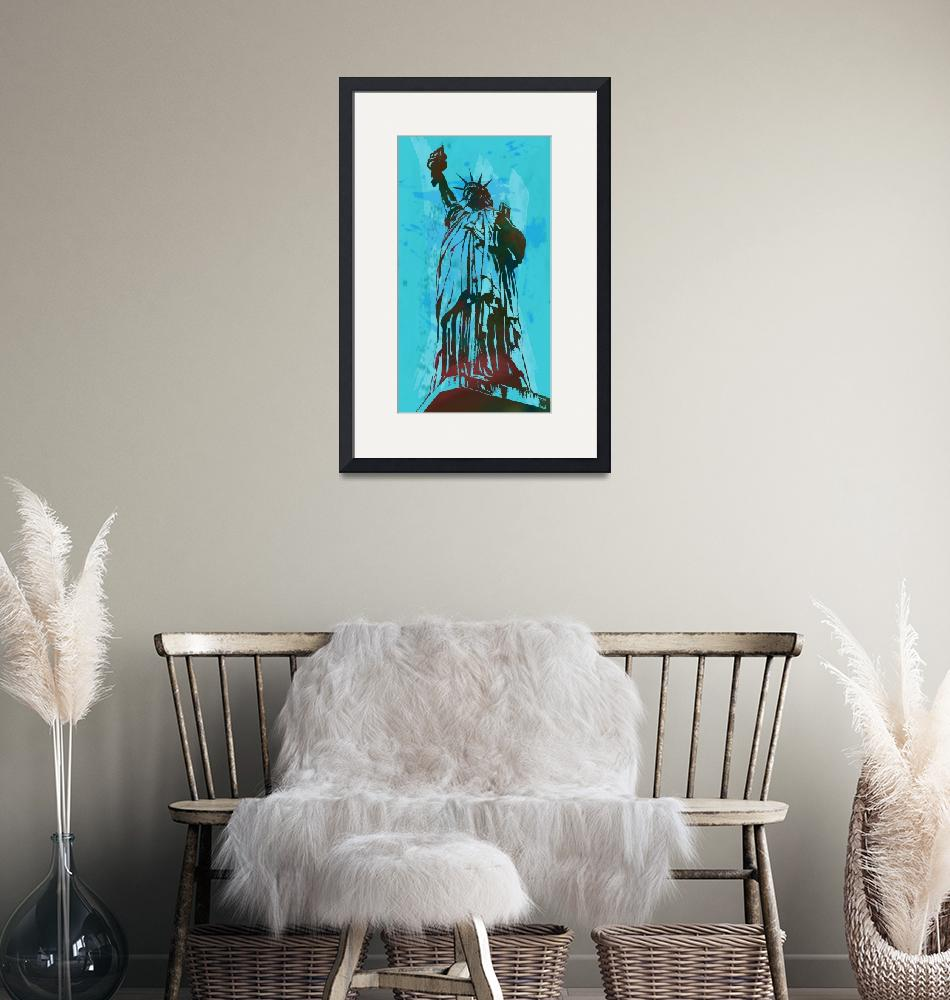 """""""Statue Liberty - Pop Stylised Art Poster""""  (2014) by visualharbour"""