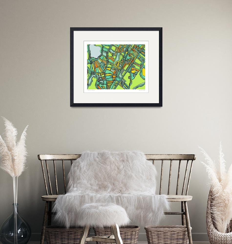 """Jamaica PLain 8x10 w border w sig and loc""  by carlandcartography"