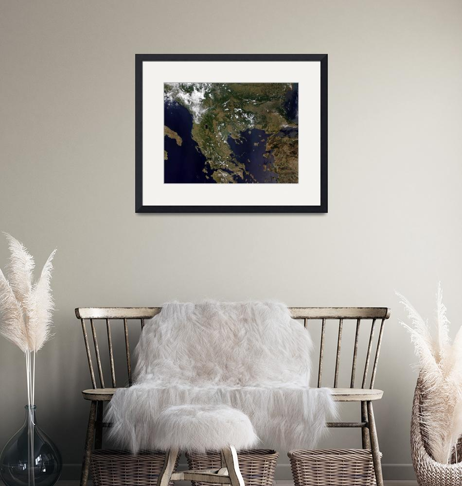 """""""Greece and its surrounding countries""""  by stocktrekimages"""
