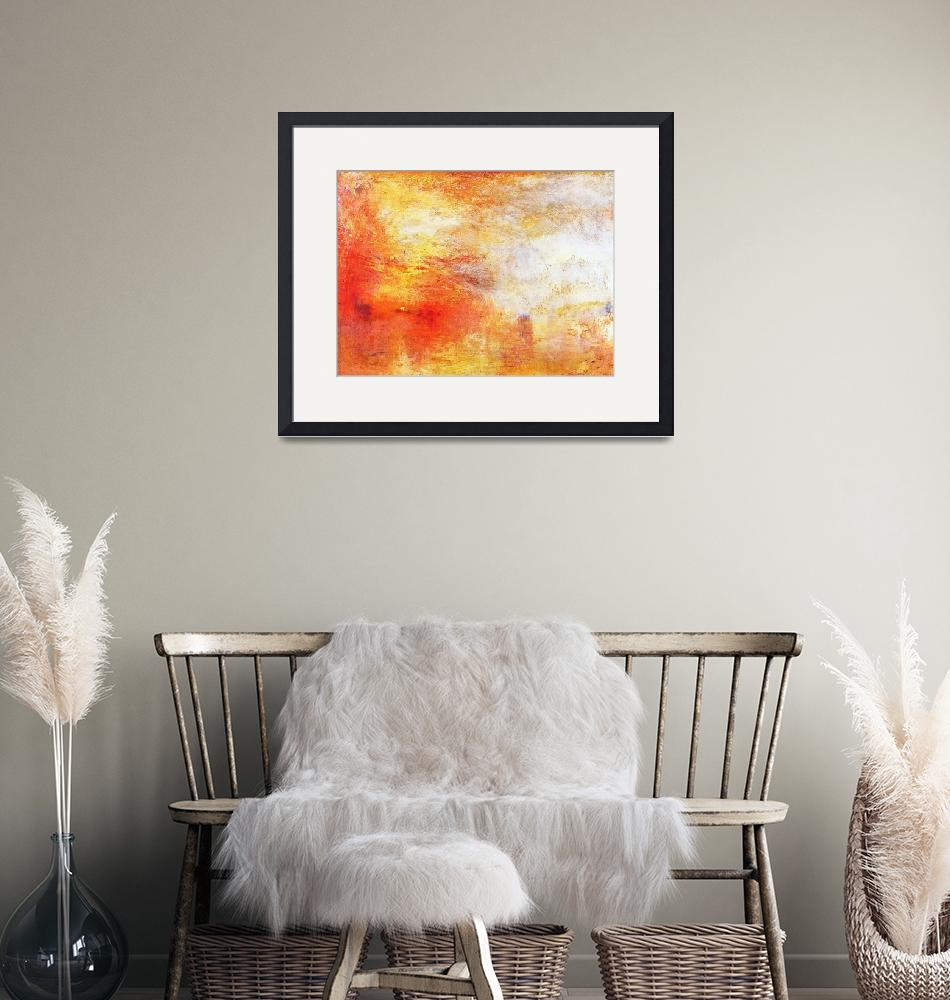 """""""William Turner Sun Setting Over A Lake Abstract La""""  by masterpiecesofart"""