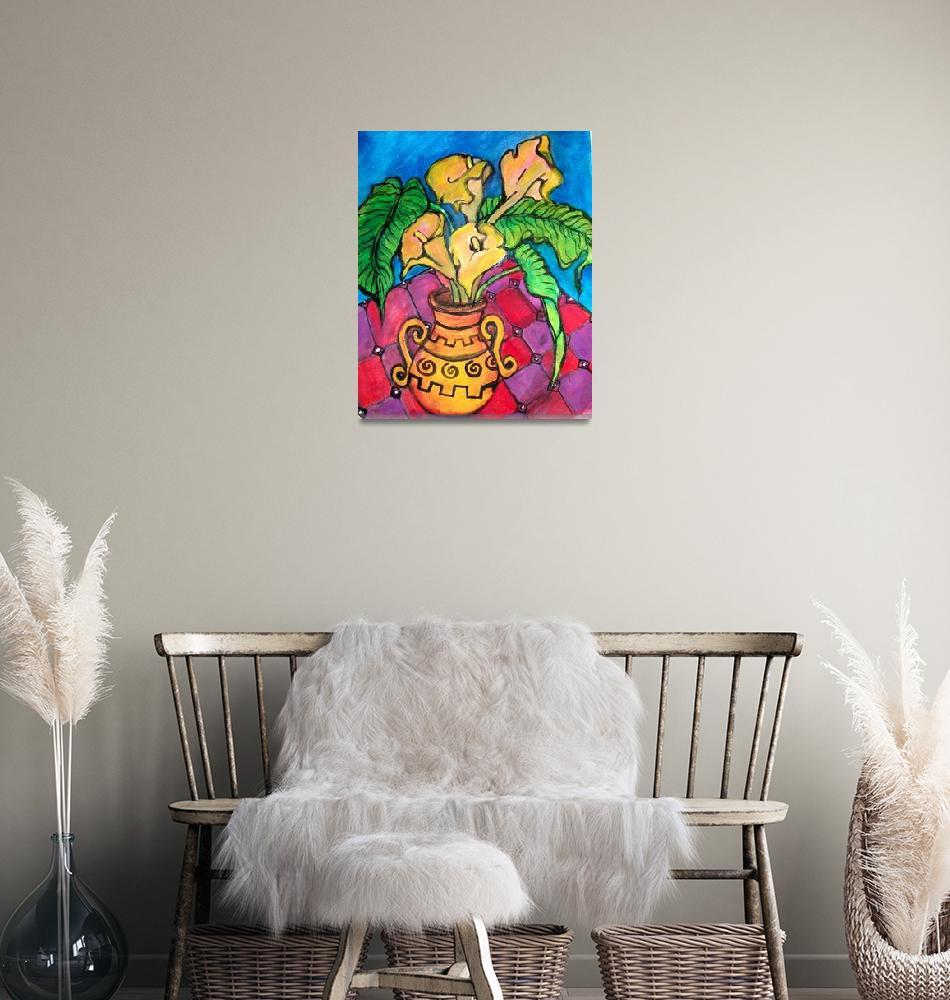 """Calla Lilies - Watercolor""  (2010) by Crafloft Studio"