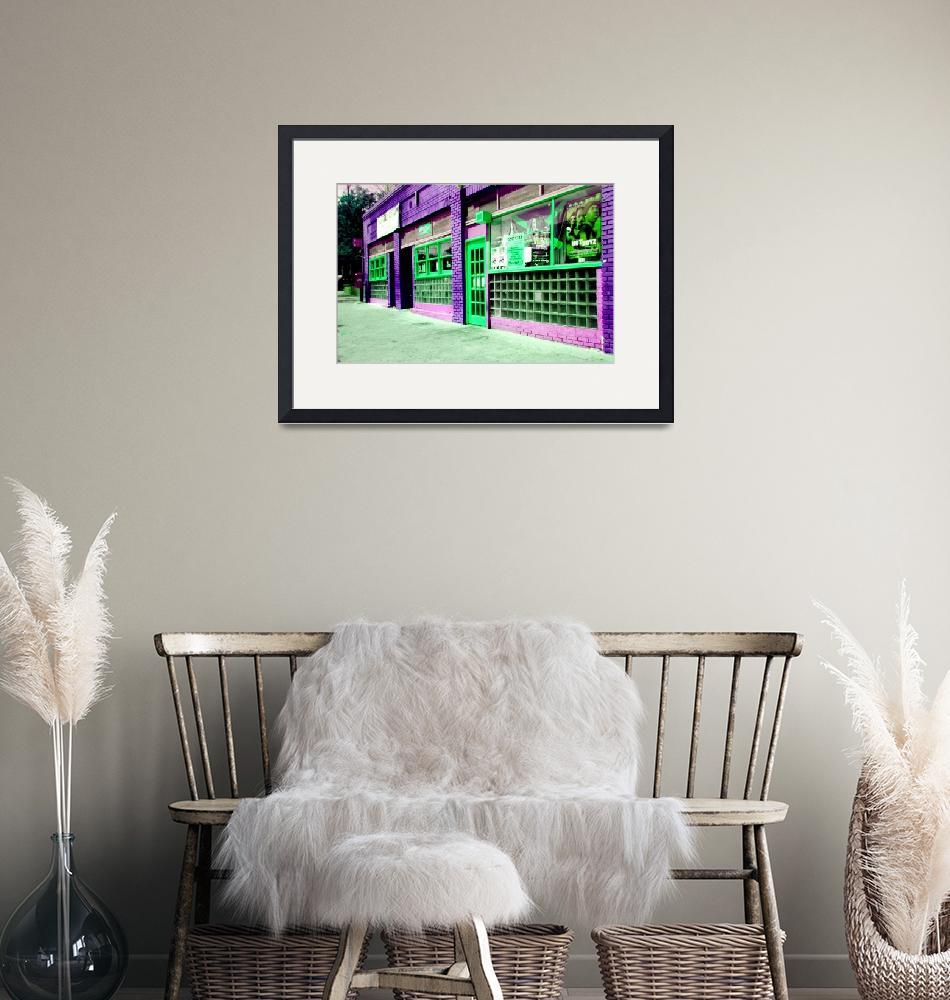 """ATLANTA STREET SCENE--PURPLE & GREEN""  (2015) by JayneSomogy"