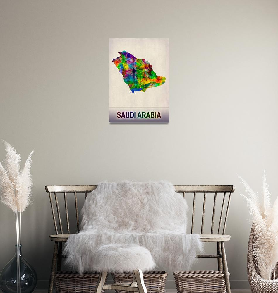 """Saudi Arabia Map""  by Towseef"