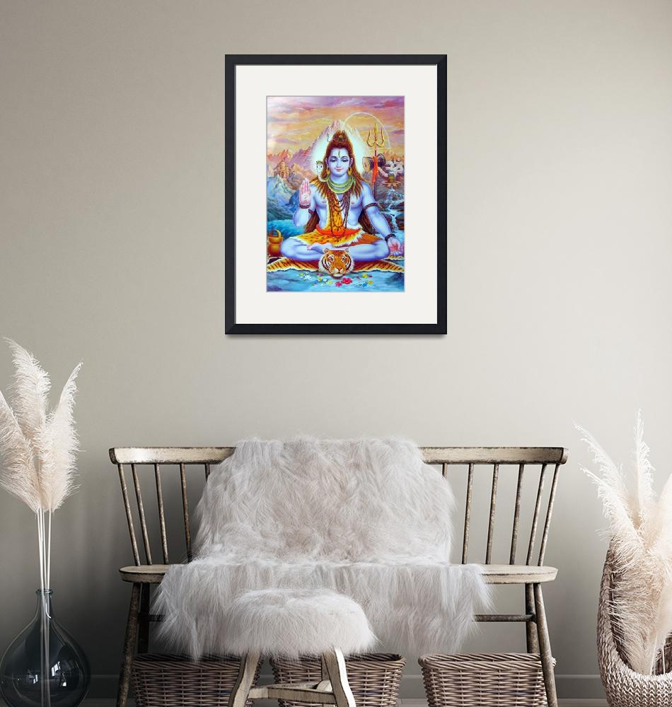 """""""Lord Shiva poster print Hindu religion""""  (1980) by Maggy"""
