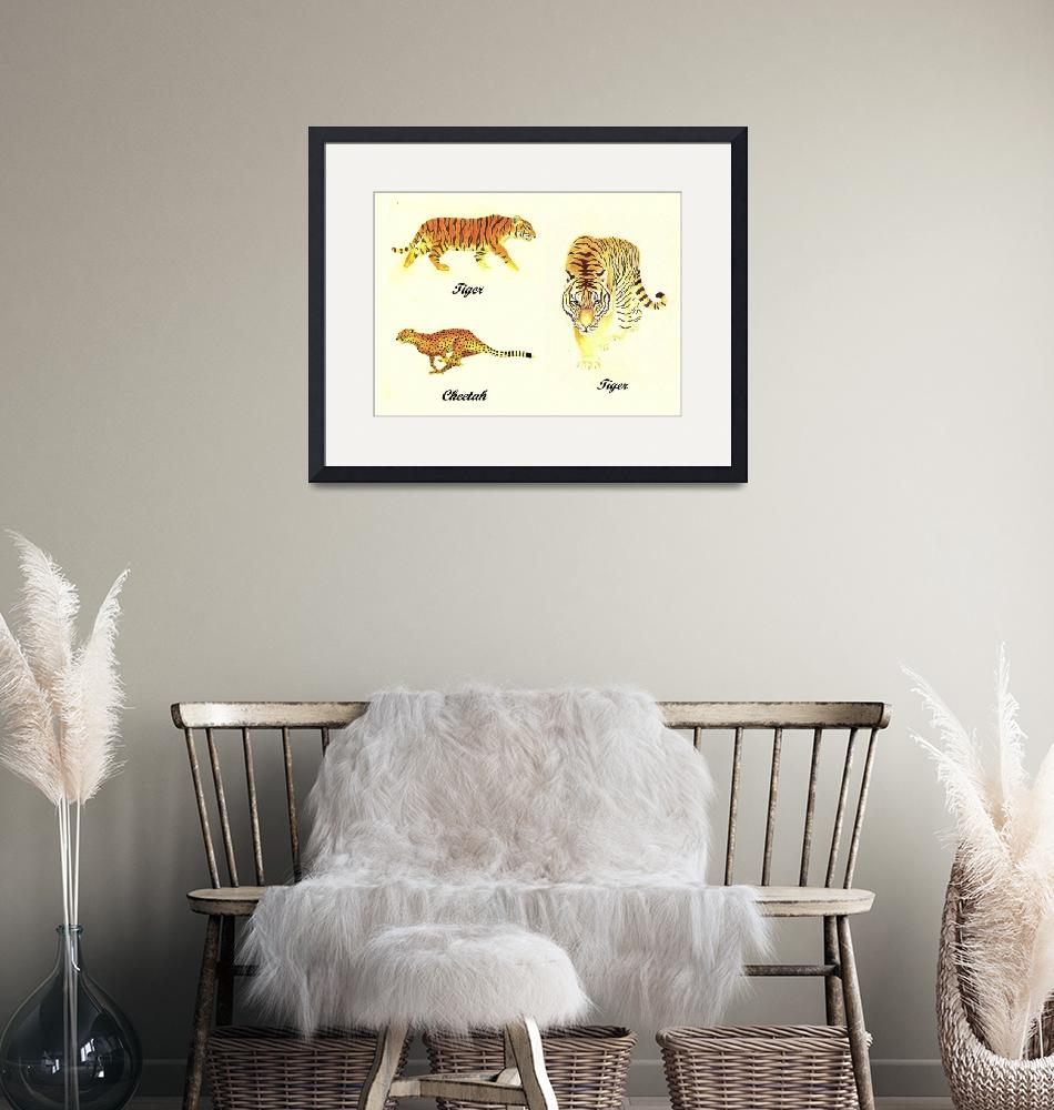"""""""3 Big Cats Paintings""""  (2011) by vigliotti"""