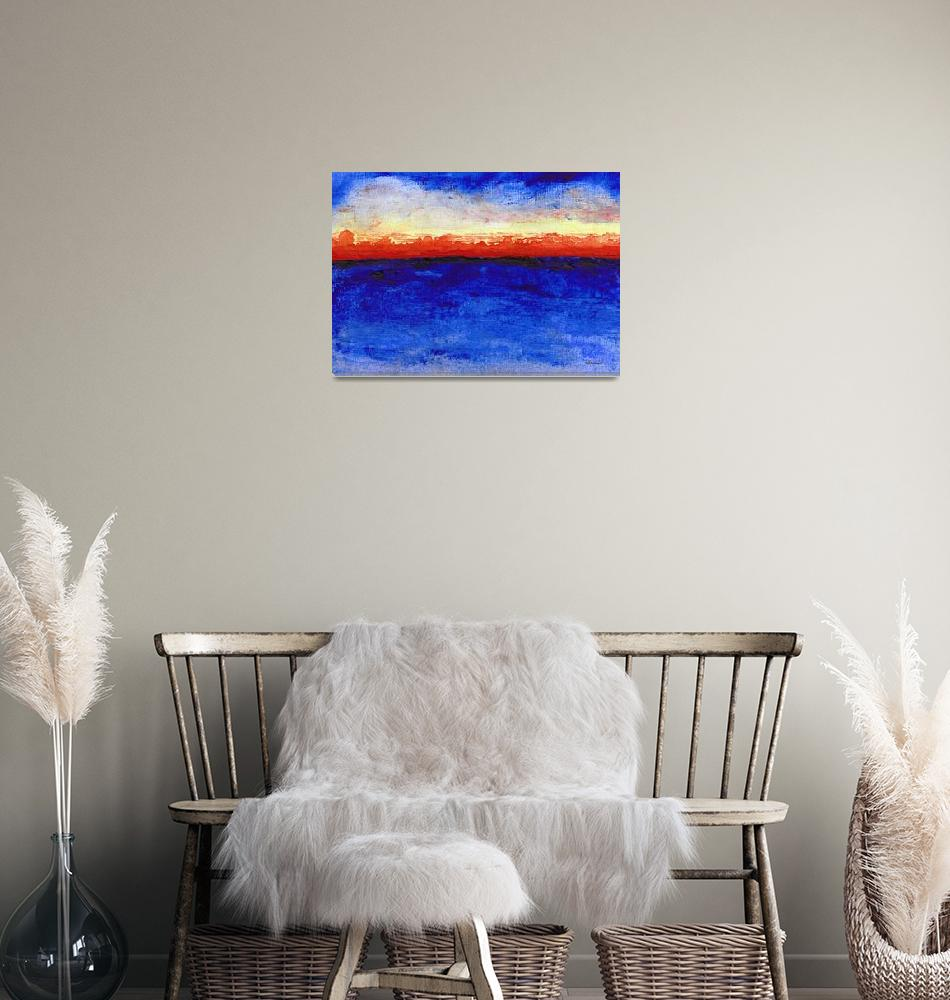 """Sunrise Seascape Abstract 2c""  (2014) by Ricardos"