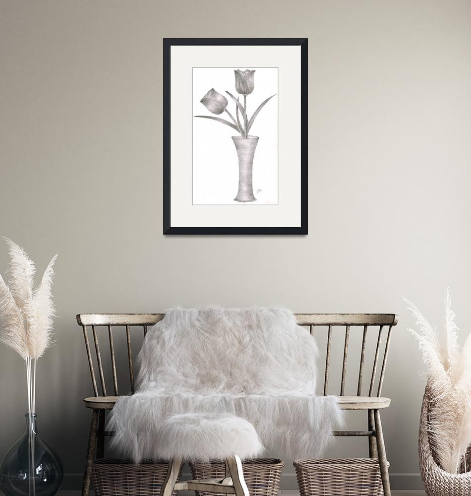 """""""Tulips & Vase""""  by anky"""