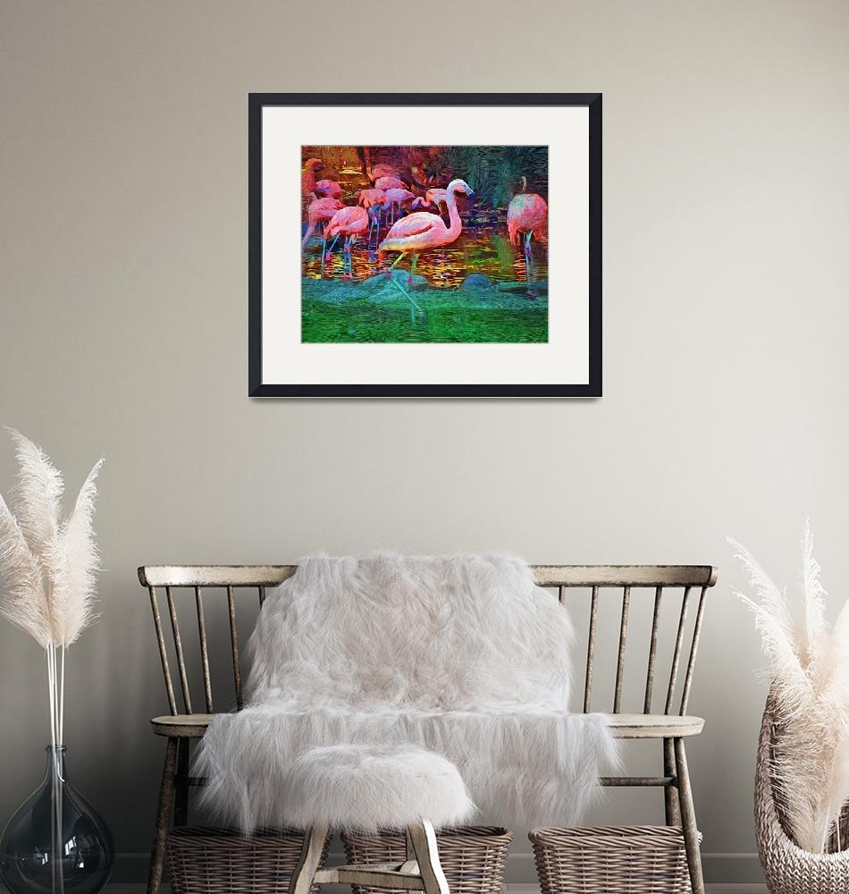 """""""Pink Flamingos""""  (2017) by Kirtdtisdale"""