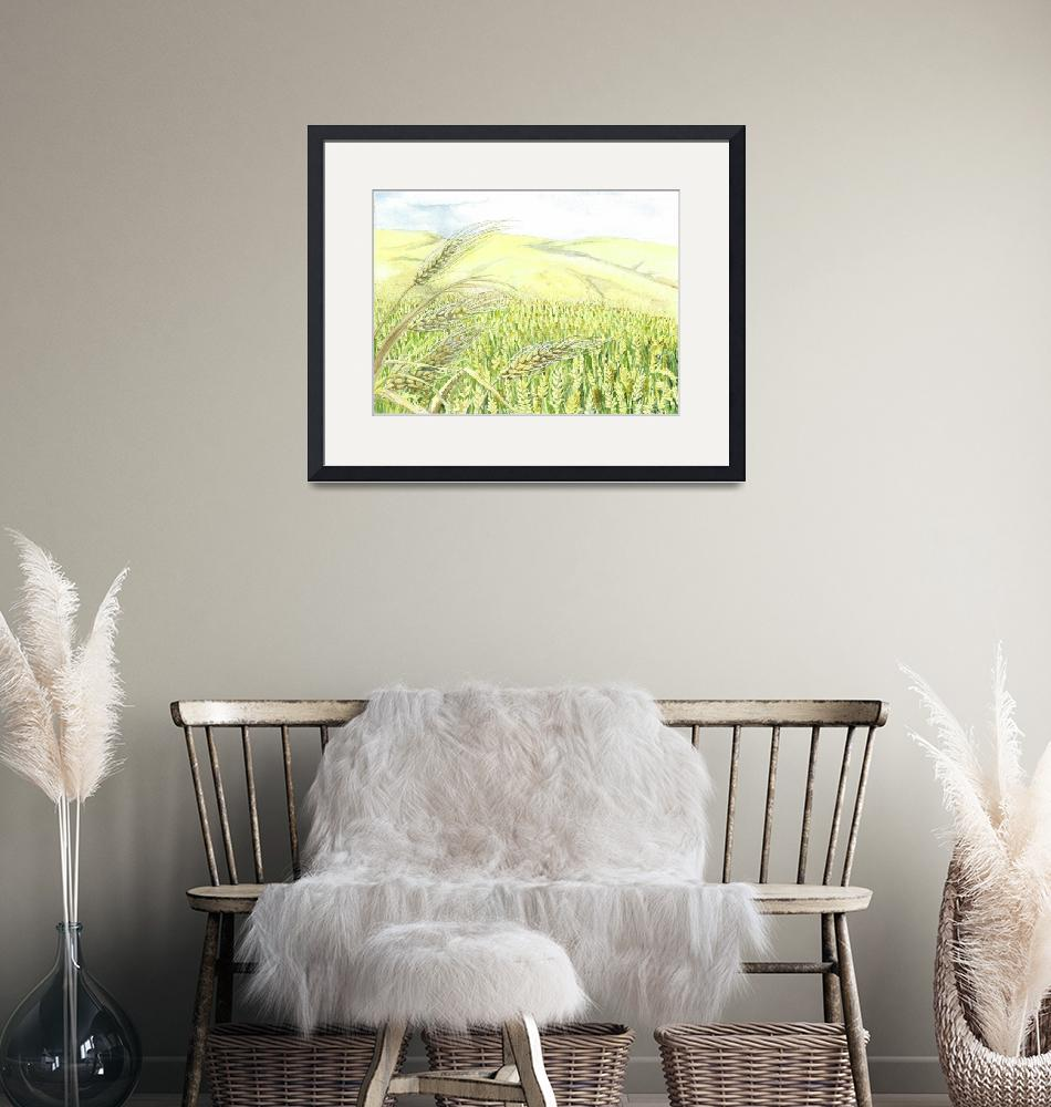 """Wheat Field""  (2008) by ClotheslineArt"