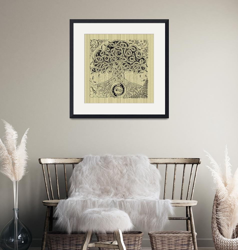 """""""Celtic Tree of Life Inked""""  by foxvox"""