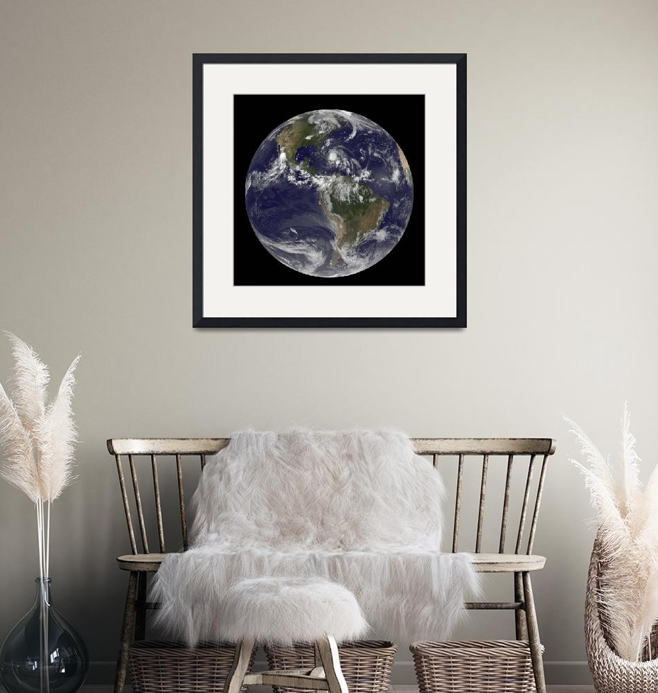 """""""August 24, 2011 - Satellite view of the Full Earth""""  by stocktrekimages"""
