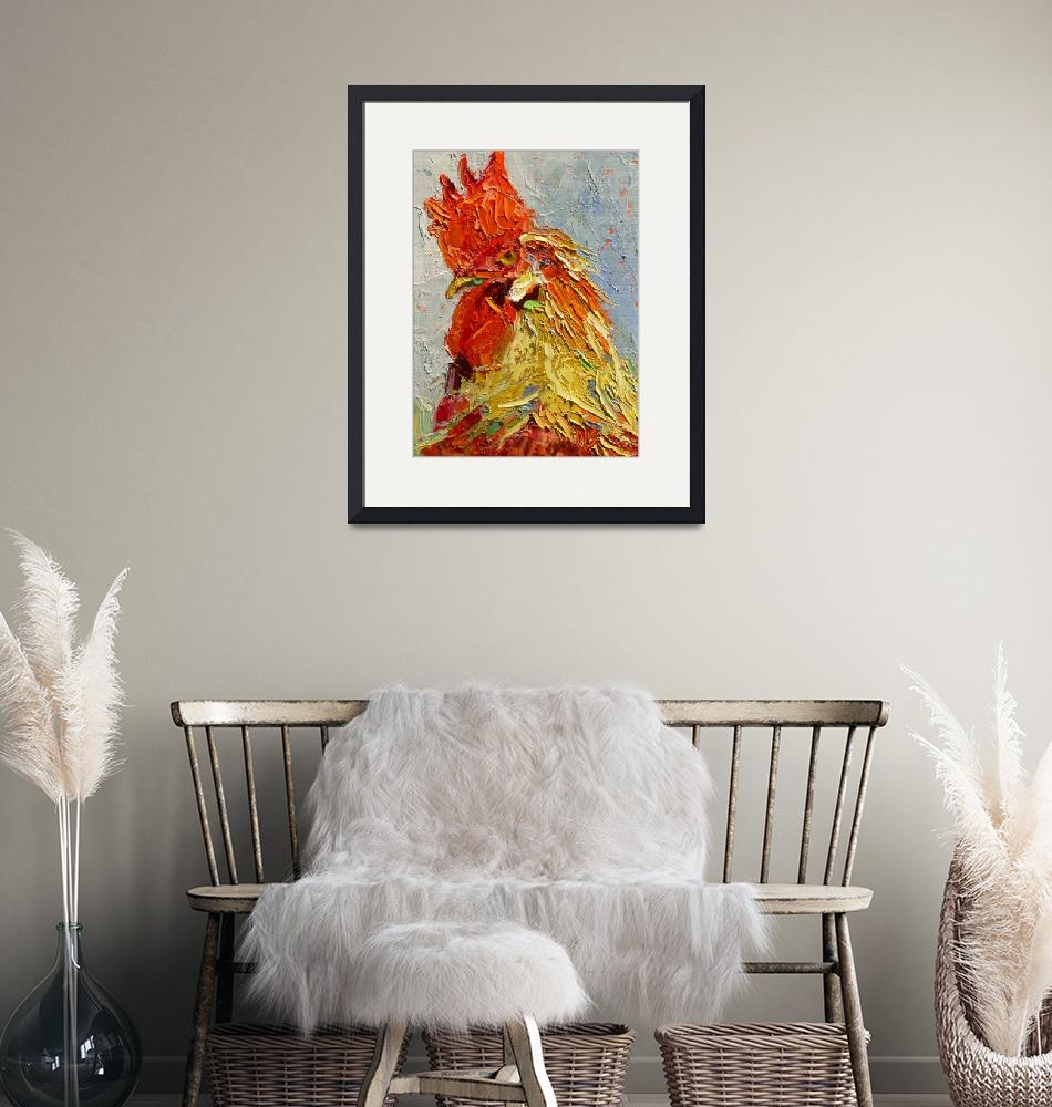 """""""Rooster in the House 13010""""  (2013) by NancyStandlee"""