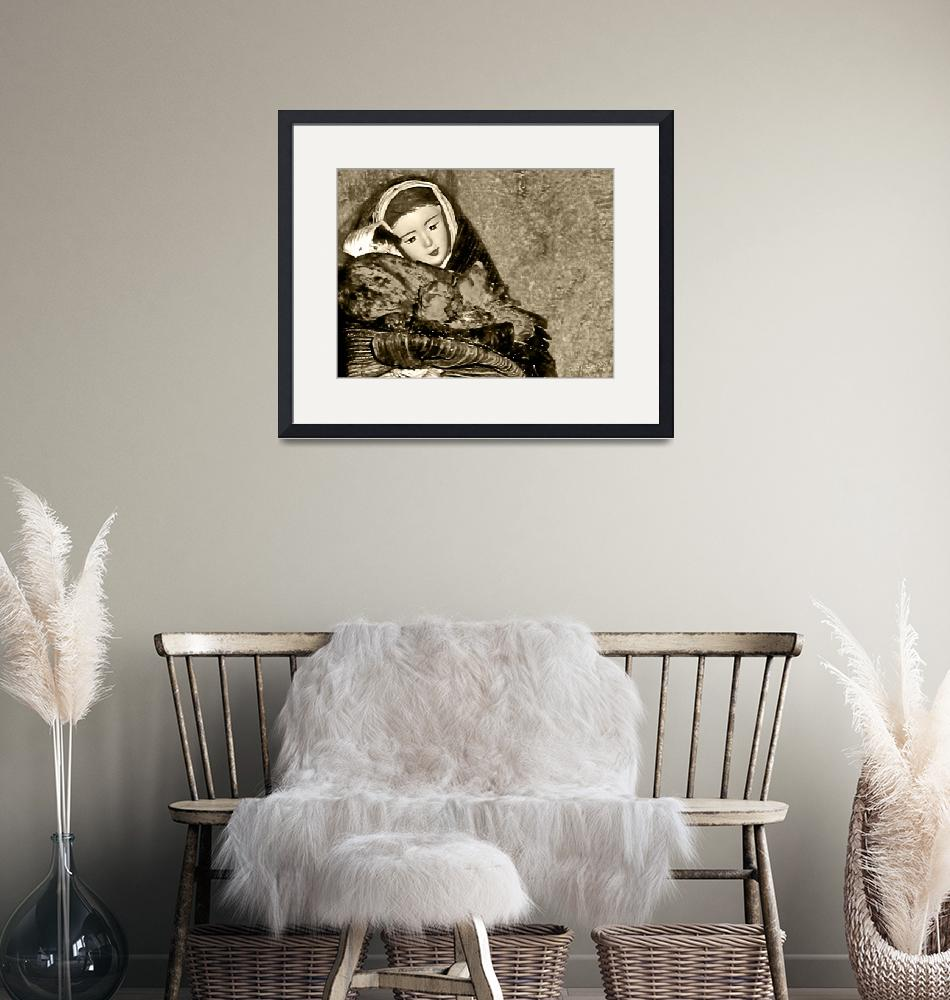 """Gift of Fine Art For Mom Sepia Tone Wall Decor""  (2010) by PhotographsByCarolFAustin"