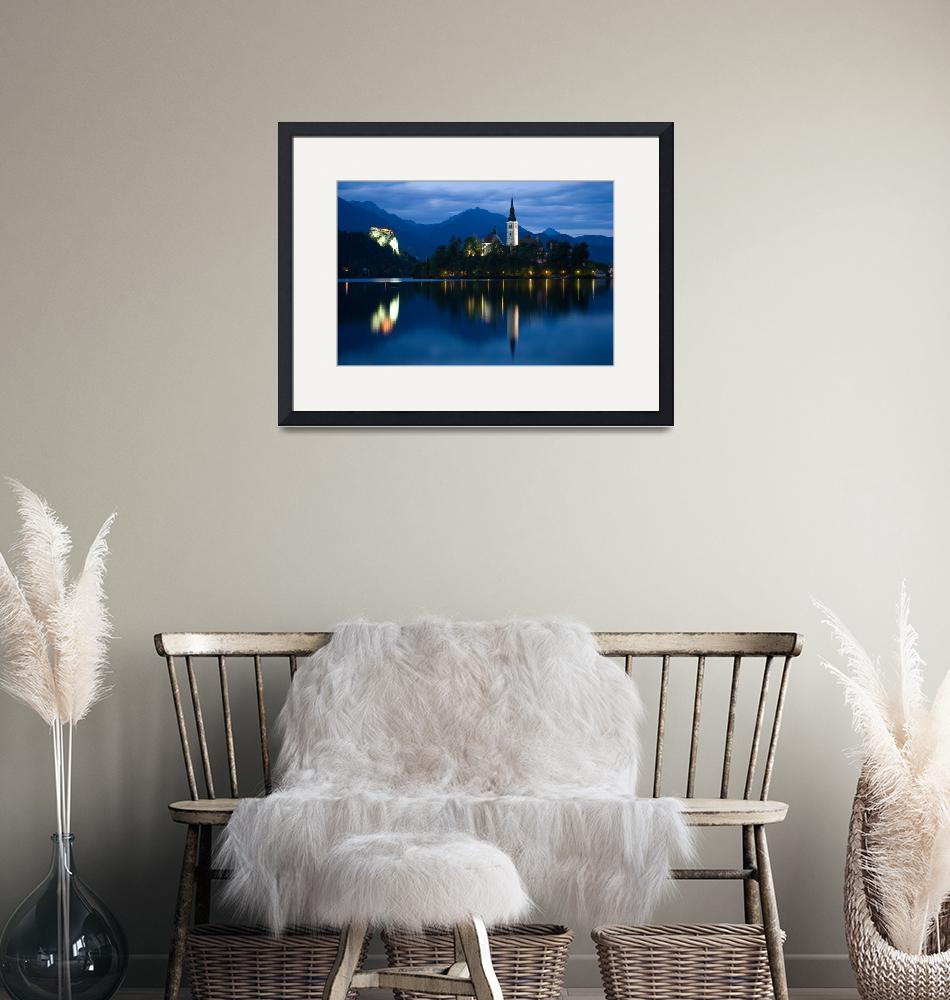 """""""Dusk over Lake Bled""""  (2012) by IanMiddletonphotography"""