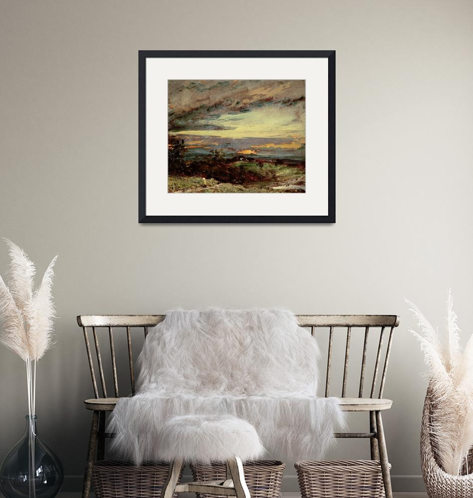 """""""Sunset study of Hampstead, looking towards Harrow""""  by fineartmasters"""