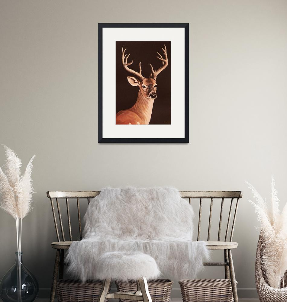 """""""12 Pointer Stag     painting""""  by AnimalsbyDiDi"""