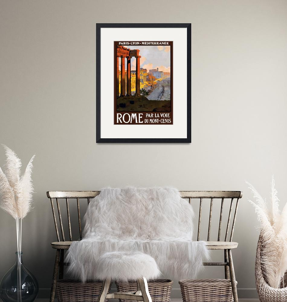 """""""Vintage Rome Italy Ruins Travel Poster""""  by PDGraphics"""