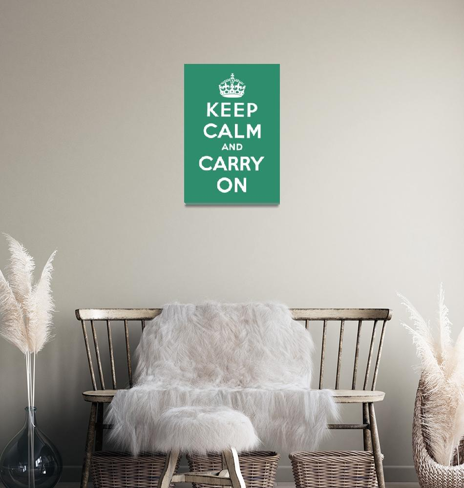 """Green Keep Calm And Carry On 10""  by oldies"