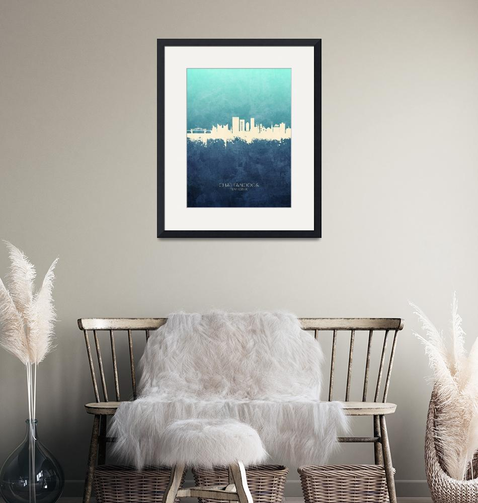 """Chattanooga Tennessee Skyline""  (2019) by ModernArtPrints"