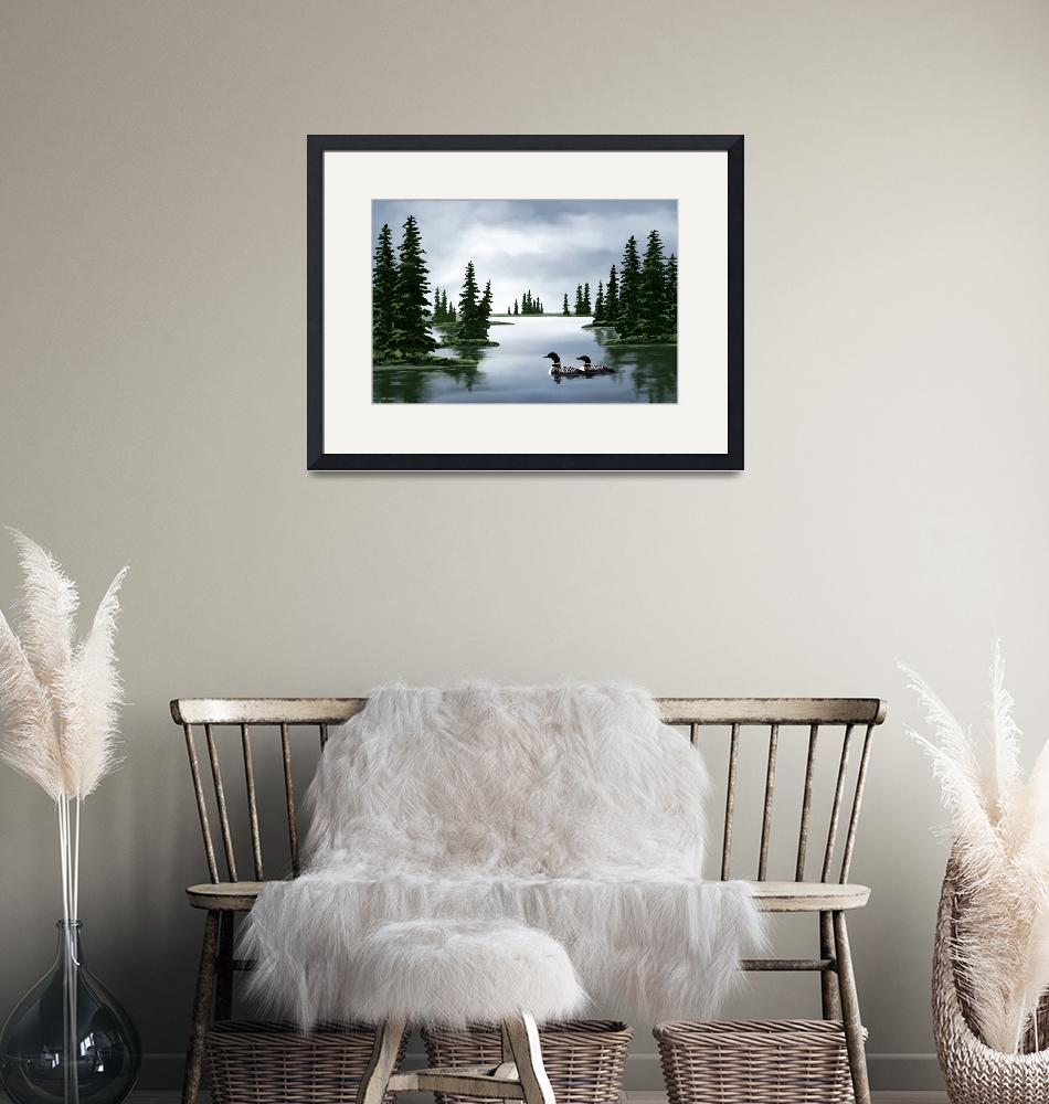 """""""Common Loon Print""""  by waterart"""