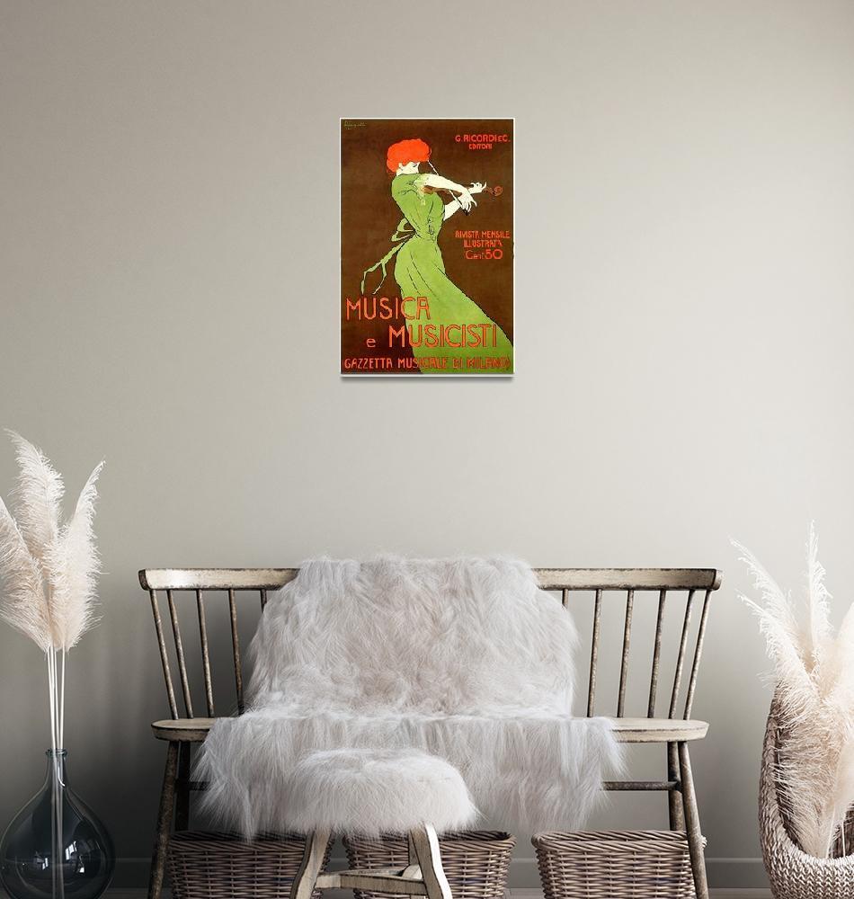 """Vintage poster - Musica e Musicisti""  by mosfunky"
