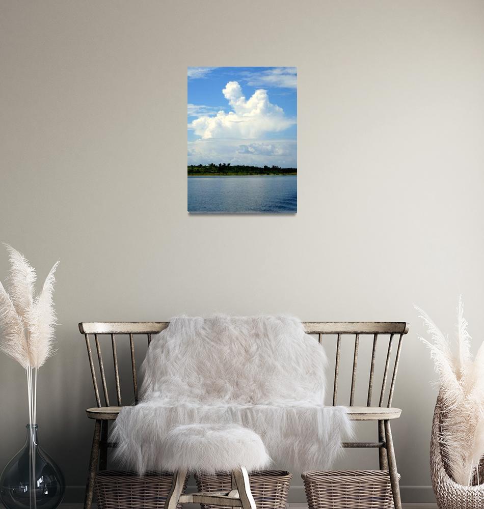 """Cloud Over Lake Volta""  (2008) by cybergypsie"
