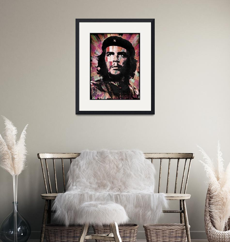 """Che Guevara Revolution Red""  by RubinoFineArt"