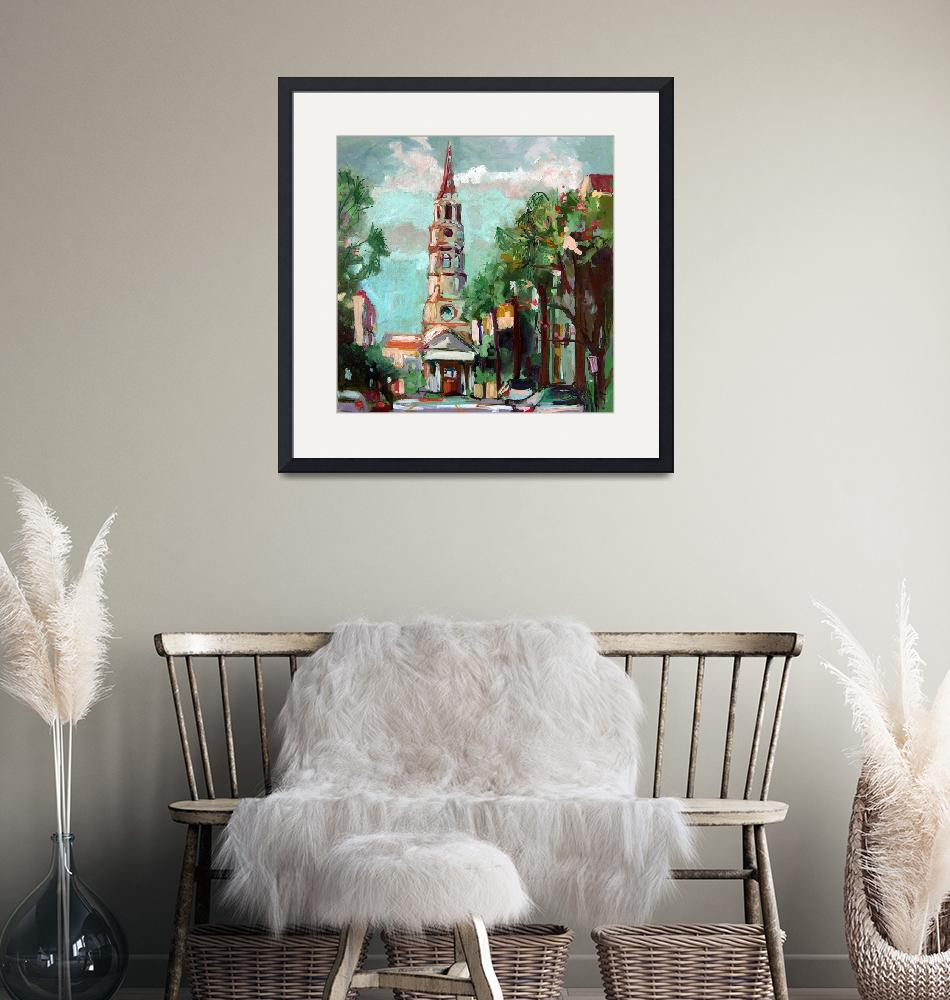 """""""Charleston South Carolina Original Oil Painting by""""  (2005) by GinetteCallaway"""