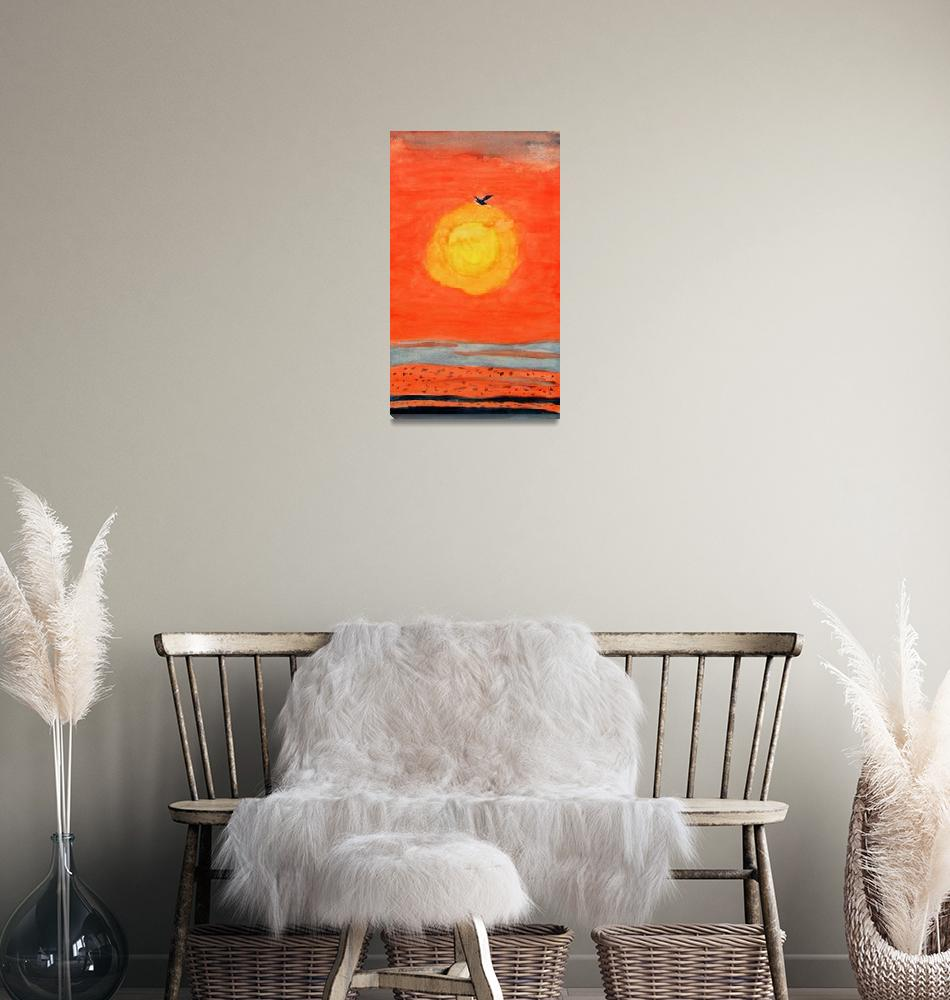 """Sunset""  (1995) by Bonnie28n"