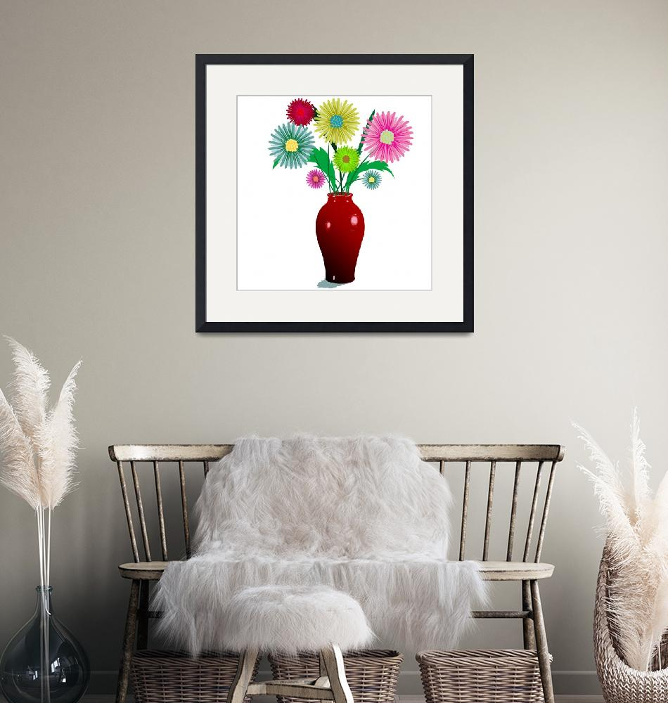 """""""flowers and vase""""  by robertosch"""