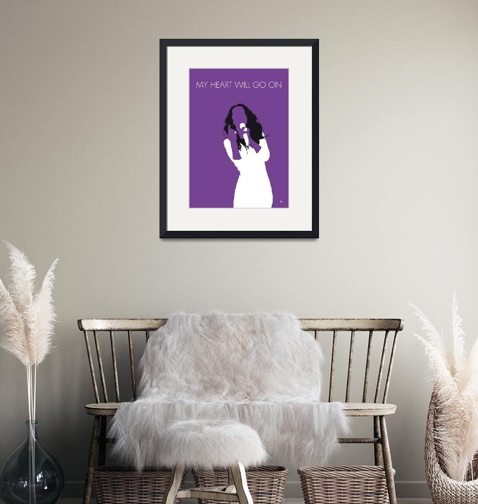 """""""No151 MY Celine Dion Minimal Music poster""""  by Chungkong"""