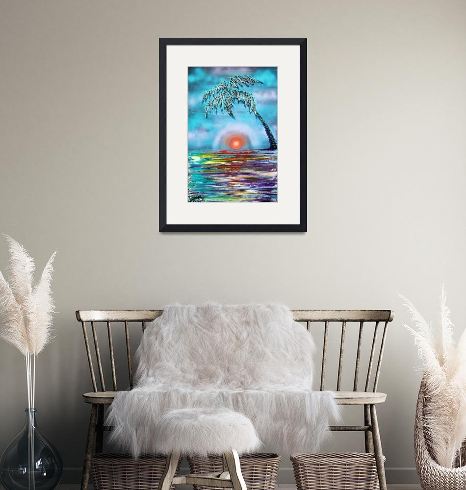"""Tropical Sunset""  (2015) by ArtPrints"