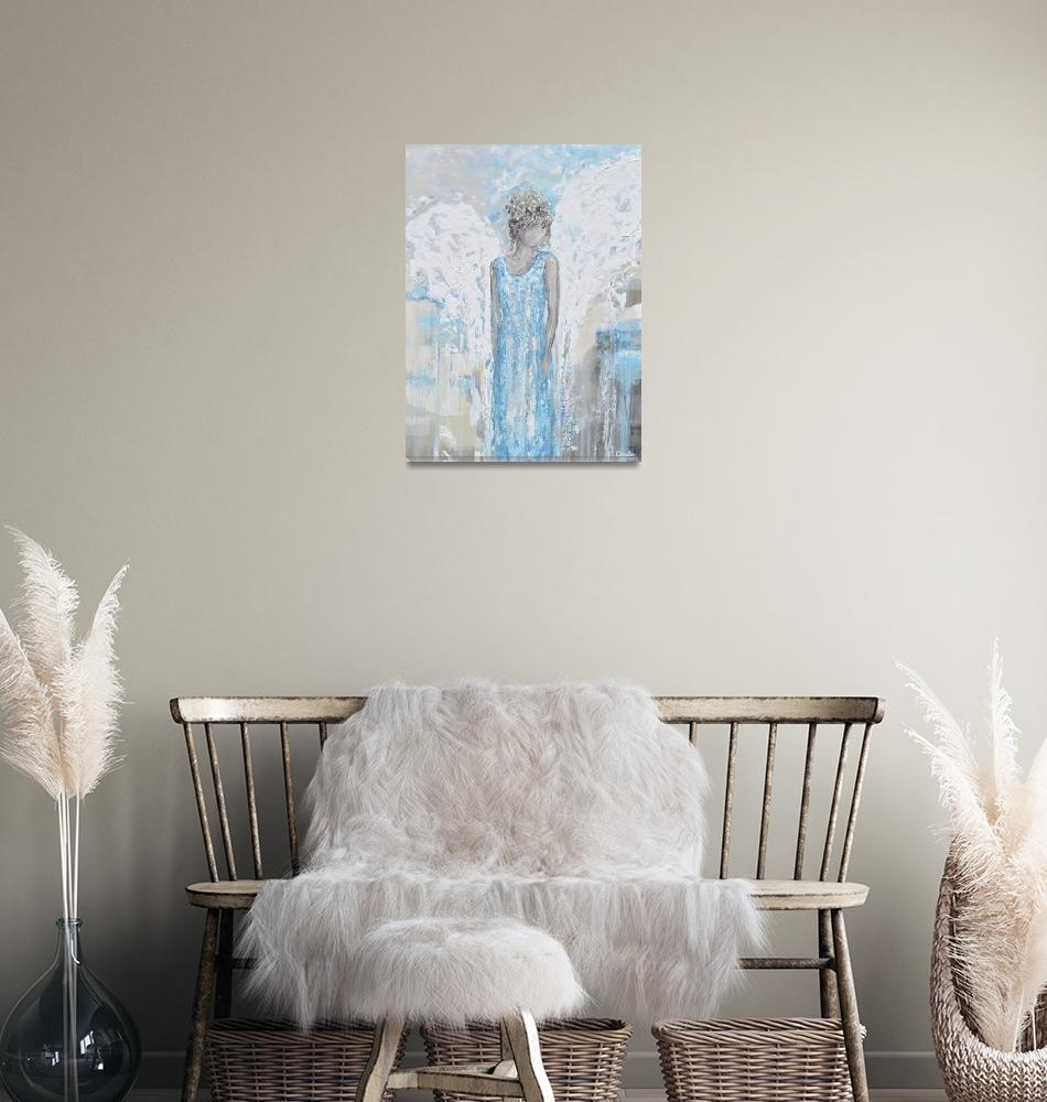 """""""""""Angel of Joy"""" - Angel Painting"""" by ChristineBell"""