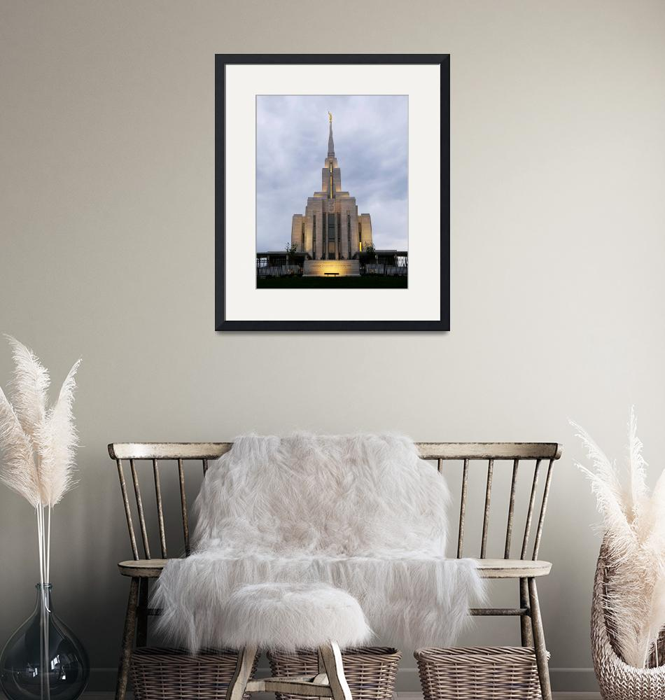 """Oqurrih Mountain LDS Temple (Wide)""  (2010) by capturedbydash"