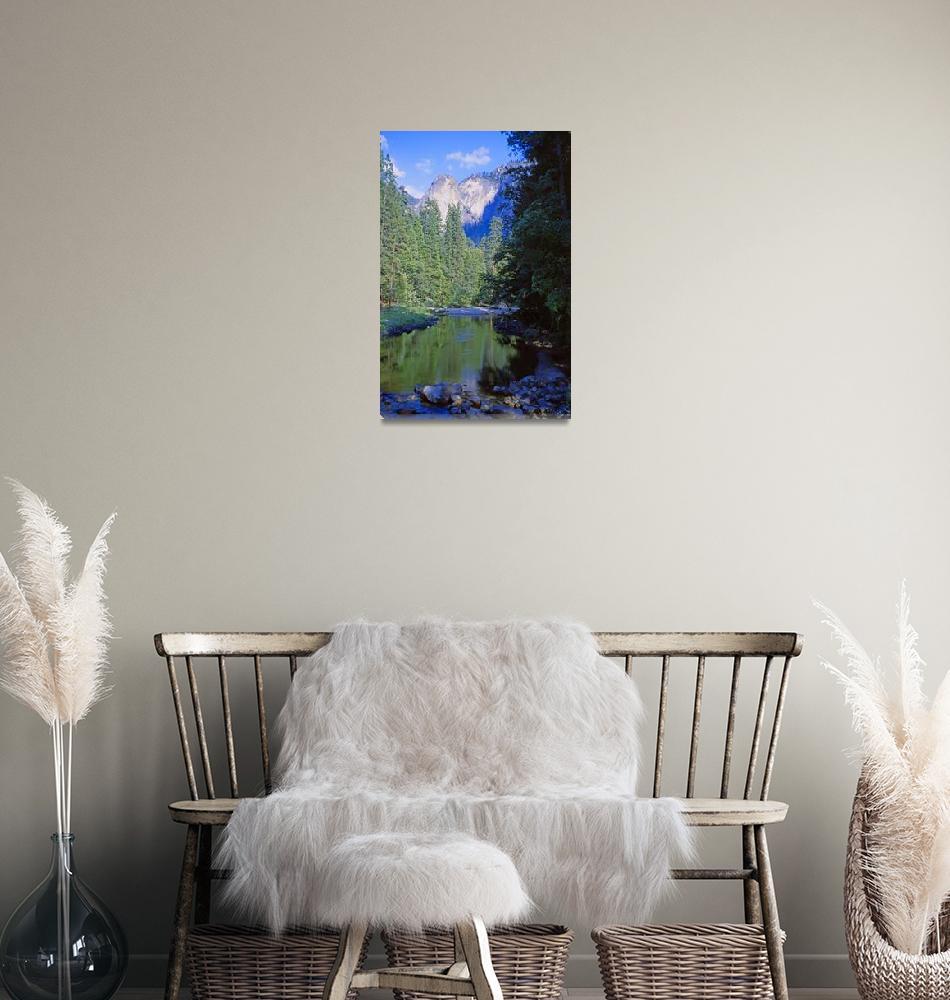 """Mountain Pool, Yosemite""  (1979) by PriscillaTurner"
