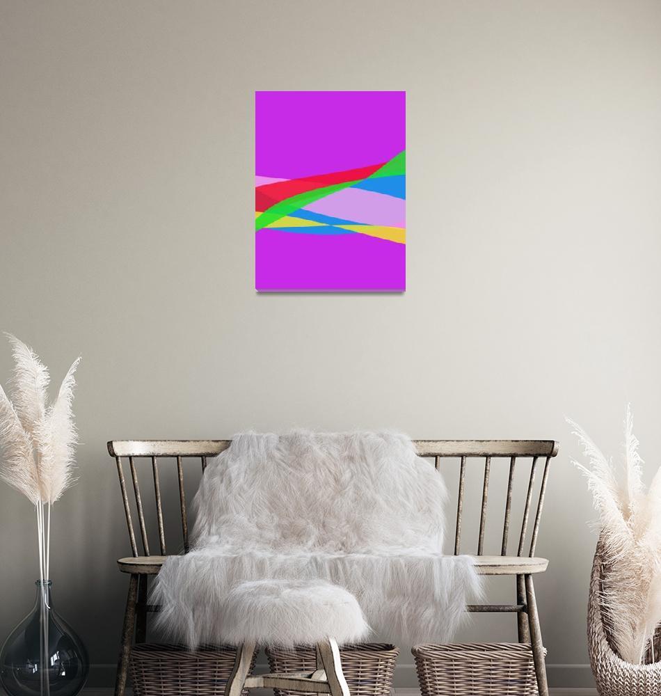 """Pink Purple Minimalism Abstract Art""  (2014) by masabo"