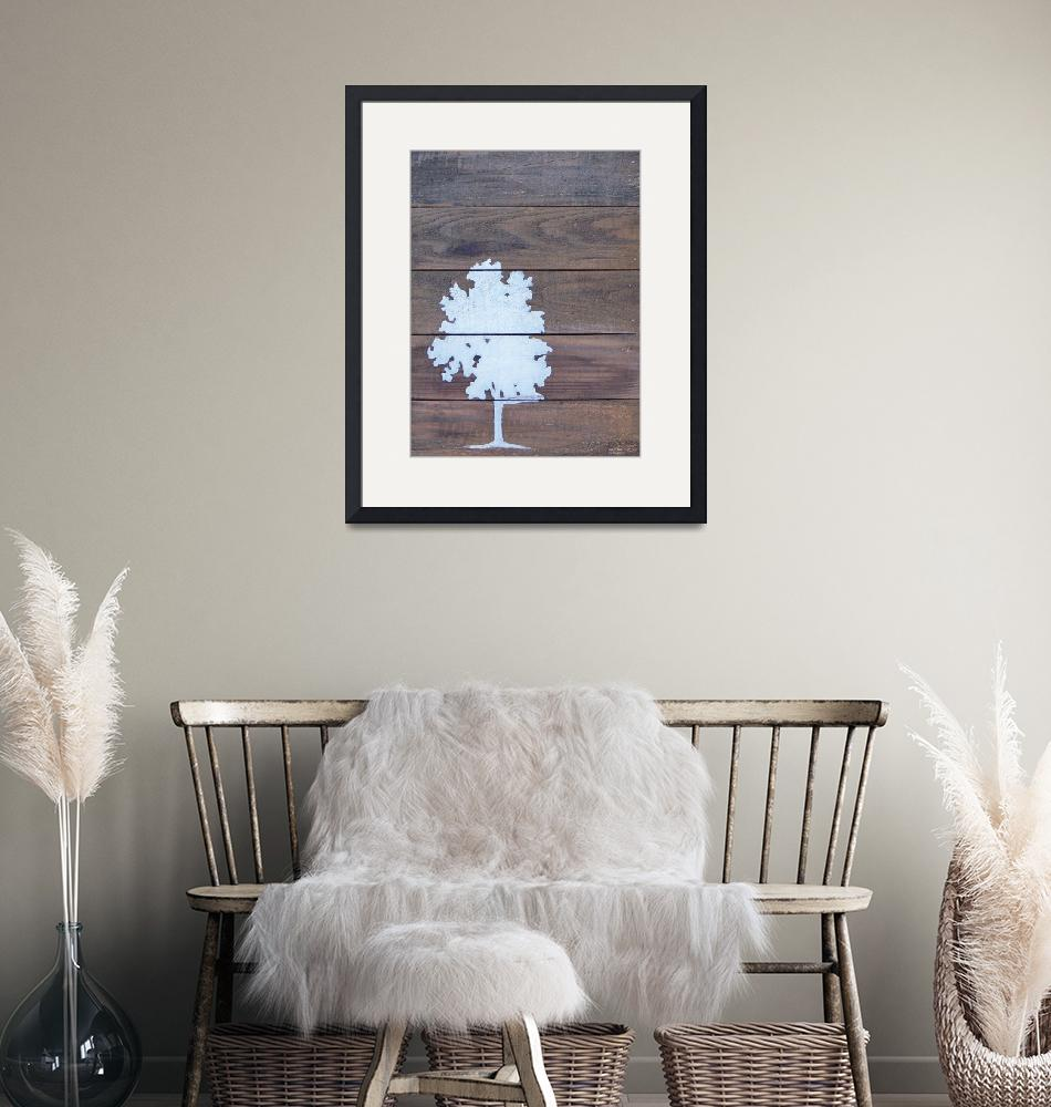 """""""Reclaimed Wood White Tree Painting""""  (2012) by LisaKDesigns"""