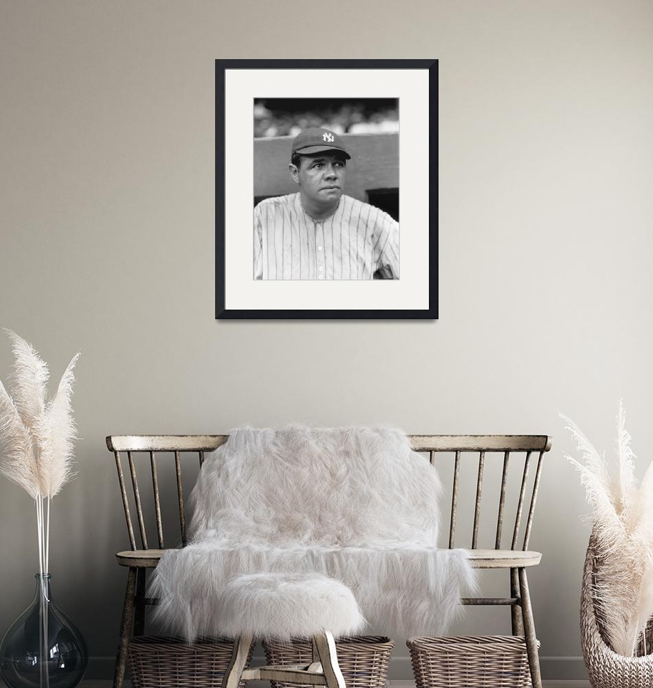 """George H. Babe Ruth""  by RetroImagesArchive"