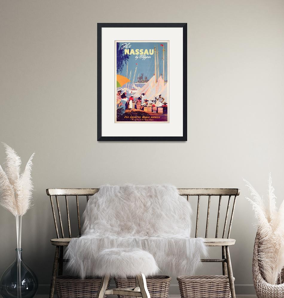 """""""Poster advertising Nassau""""  by fineartmasters"""
