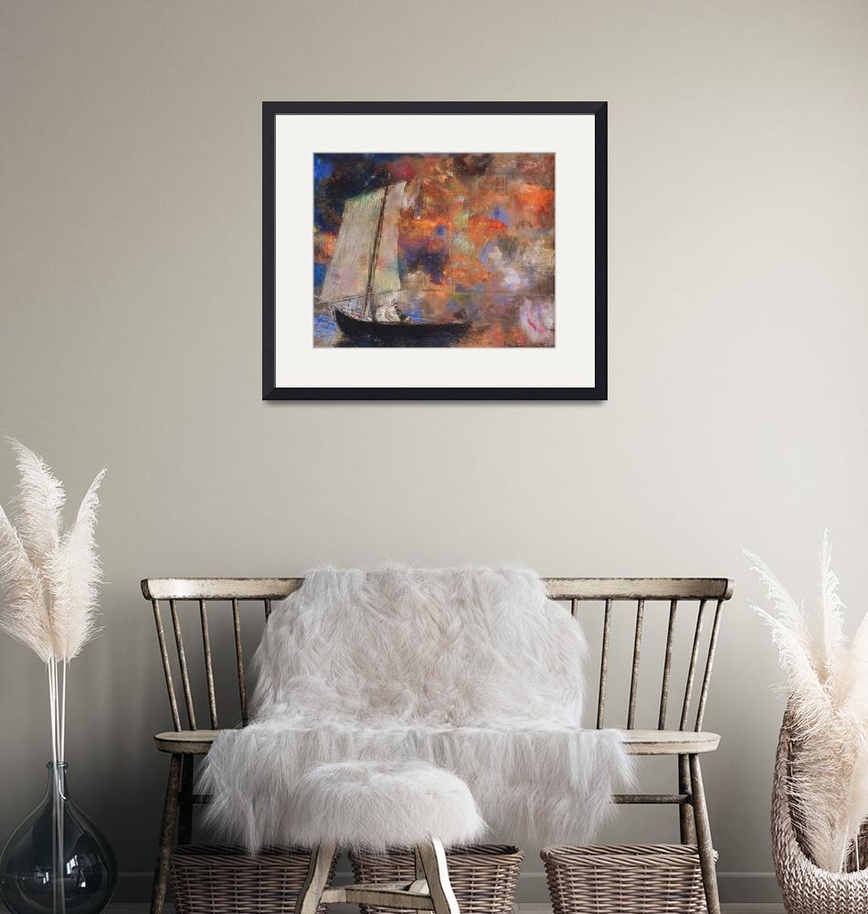 """""""Flower Clouds by Odilon Redon""""  by FineArtClassics"""