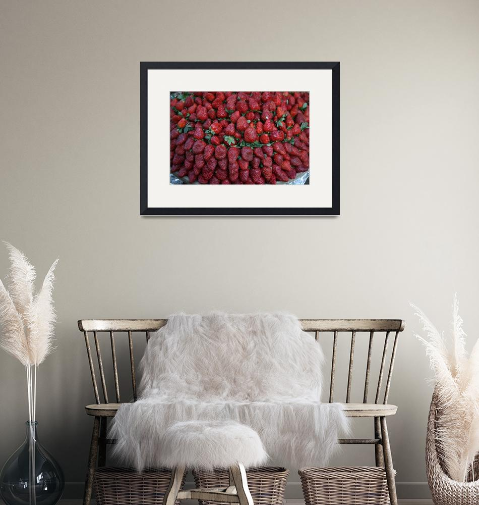 """""""Strawberry Row""""  (2010) by DonnaCorless"""