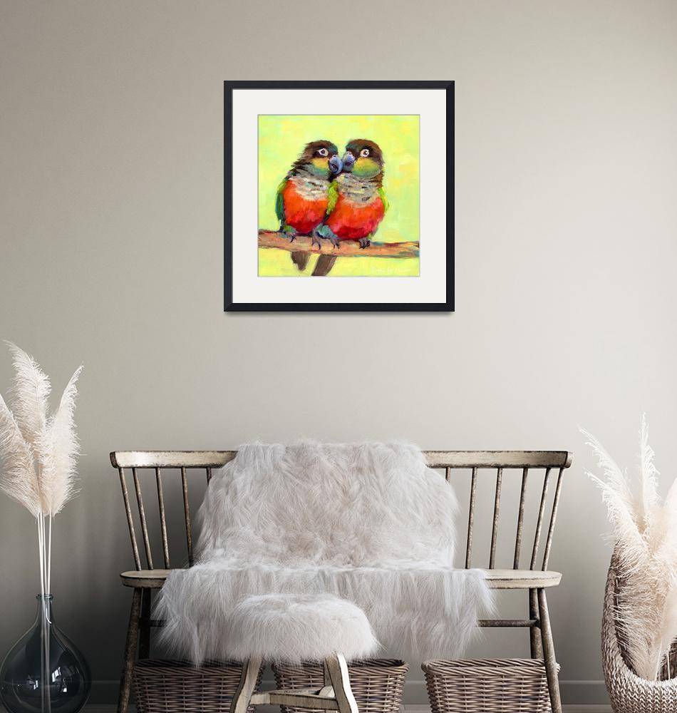 """""""#3 Crimson-bellied Conure""""  by 2happypainters"""