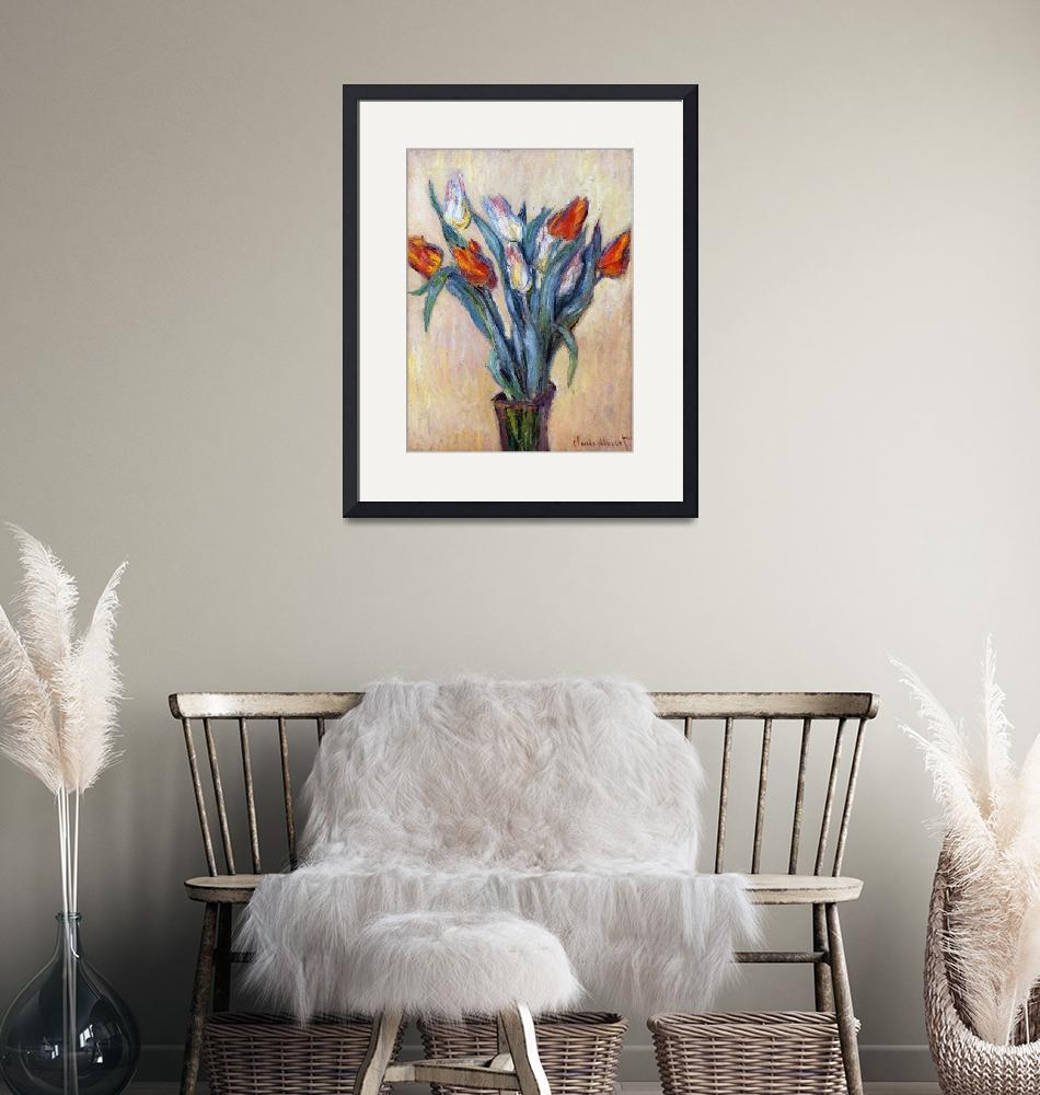 """""""Tulips by Claude Monet""""  by fineartmasters"""